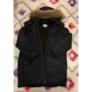 Old Navy black puffer coat